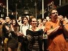 Publikum na udílení cen hudební kritiky Apollo - klub SaSaZu, Praha (6. února