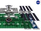Hřiště pro americký fotbal je přibližně stejně velké, jako Mezinárodní vesmírná stanice