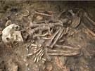 Kostry ležely v netypické poloze. Vše nasvědčuje tomu, že šlo o rituál, který