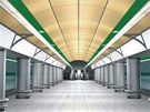 Vizualizace: stanice Veleslavín