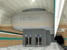 Vizualizace: stanice Petřiny