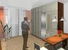 Vizualizace: interiér obytné části