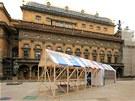 Sauna se už dvakrát objevila na piazzetě Národního divadla.