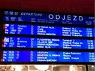 Vlaky, které měly vyjíždět z hlavního nádraží, musely začít odjíždět z jiných