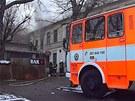V hotelu Kazín v Černošicích znovu hořelo (8. února 2013).