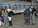 D1 Express Českých drah na pražském hlavním nádraží.