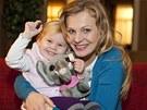 Michaela Badinková se seriálovou dcerou Mirinkou, v jejímž věku je i hereččina...