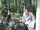 Z natáčení dokumentu Vrahem z povolání - Utrpení soudce Karla Vaše