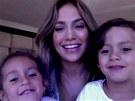 Jennifer Lopezová a její dvojčata Emme a Max (2012)