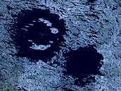Dokonalý případ dvojitého kráteru: jezera Clearwater v Kanadě.