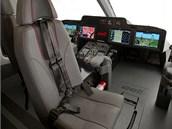 Kokpit připravovaného stroje Bell 525 by měl zvýšit pohodlí posádky a také