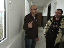 Miroslav Brož ze sdružení Konexe a Dalibor Záhora z iniciativy Bydlení pro