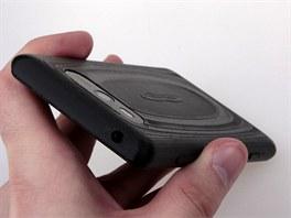 Pohled na vytištěný kryt u Nokia Lumia 820