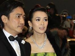 Tony Leung a Čang C'-i při zahájení Berlinale 2013