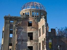 Atomov� d�m v Hiro�im�. Je to jedin� budova, kter� odolala v�buchu. Postavil ji