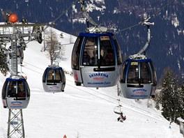 Millenium Express je nejdelší kabinovou lanovkou Alp.
