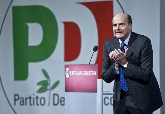 Pier Luigi Bersani během volební kampaně, Řím 7. února 2013