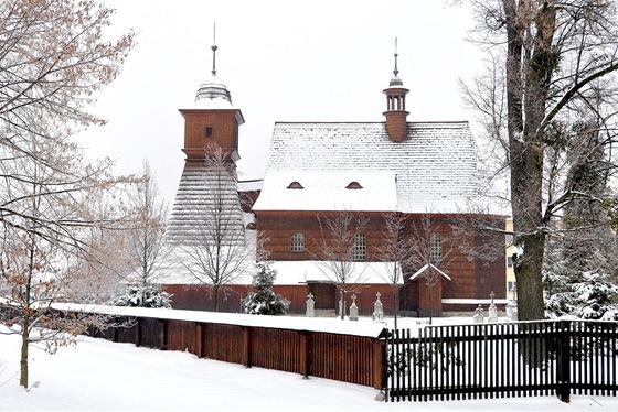 Kostel vOstravě-Hrabové je replikou původní dřevěné stavby, která shořela.