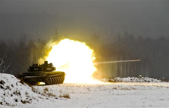 Ostré tankové střelby aktivních záloh u 73. tankového praporu v Přáslavicích