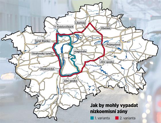 Jak by mohly vypadat nízkoemisní zóny v Praze