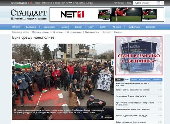 Tis�ce Bulhar� demonstrovaly proti vysok�m cen�m elekt�iny od �EZ.