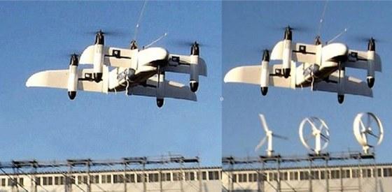 Snímek japonského bezpilotního létajícího prostředku QTW-UAV a údajného...