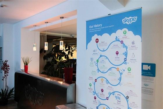 Vstup do pražských kanceláří Skype