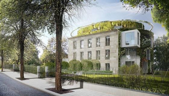 Vizualizace: rezidence Bubeneč Gardens je v atraktivní pražské čtvrti.