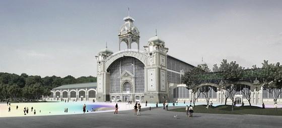 Za Průmyslovým palácem má být podle architektů otevřený prostor. Křižíkovy