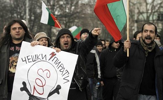 Bulhaři protestují proti vysokým cenám elektřiny od ČEZ a dalších distribučních