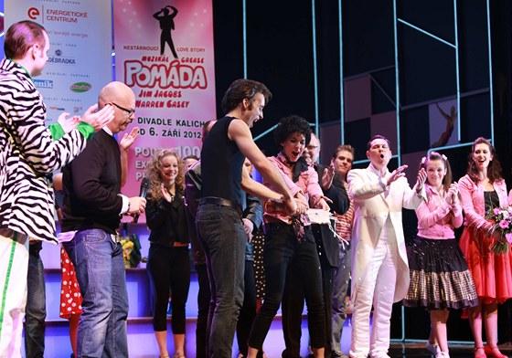 Křest valentýnského CD muzikálu Pomáda v pražském Kalichu.