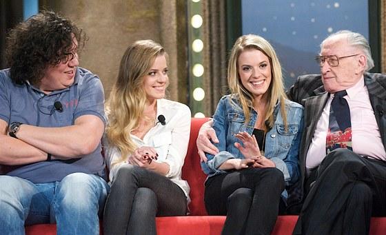 Richard Genzer, Viola a Sandra Černodrinské a Jan Domabyl v Show Jana Krause