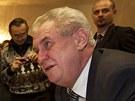 MIloš Zeman při diskusi se svými sousedy z Nového Veselí (11. února 2013)