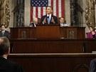 Americký prezident Barack Obama přednesl každoroční zprávu o stavu unie. (13.