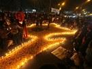 Demonstrace v Dháce požadující popravu islámského klerika Abdulkadíra Mully,