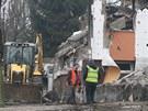Z domu, kde explodoval plyn, zůstala jen ruina. (18. 2. 2013)
