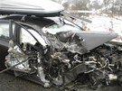 Osobní auto se v pátek odpoledne srazilo na Blanensku s dodávkou. Z nehody