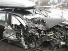 Osobn� auto se v p�tek odpoledne srazilo na Blanensku s dod�vkou. Z nehody