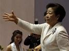 Masový obřad členů církve moonistů vedla vdova po Moonovi Hak Ja-Han (17. února
