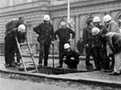 V Pekařské ulici v Brně se 15. února 1976 propadl nástupní ostrůvek u tramvaje...