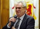 Miloš Zeman při diskuzi v Novém Veselí