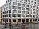 Budova Keystone v Karl�n� z roku 2012 se inspiruje kubismem.