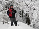 Jan Gazdík při výstupu na Lysou horu