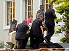 Pohřeb modelky Reevy Steenkampové v jihoafrickém Port Elizabeth (19. února 2013)