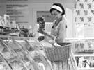 Autorka kuchařky o mase Jana Florentýna Zatloukalová v masně