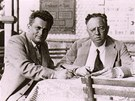 Otec Otto Fischl (vlevo) s kolegou JUDr. Mautnerem