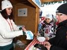Prodejce na mistrovství světa v biatlonu překvapil zájem o suvenýry. Jeden