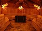 Prostory nového saunového světa Cedrus Spa, který je součástí golfového resortu
