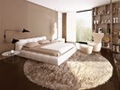 Vizualizace: na ložnice navazují koupelny a šatny.