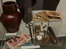Exponáty nové výstavy Mírov - pohled za mříže pocházející z dob